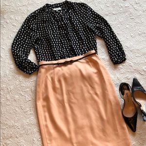 ESCADA Peach Cashmere Skirt